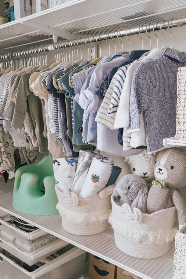 baby boy nursery closet