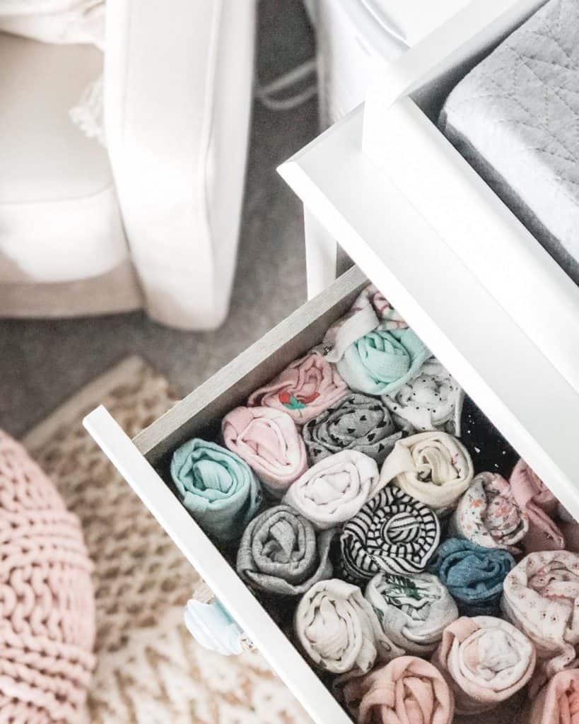How to organize a nursery dresser