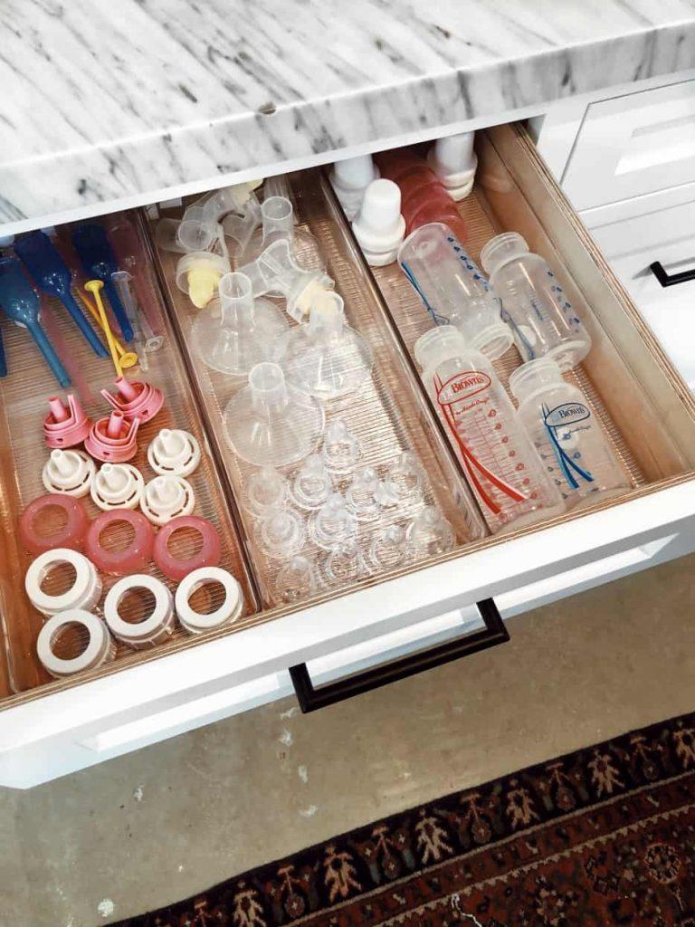 baby bottle storage ideas